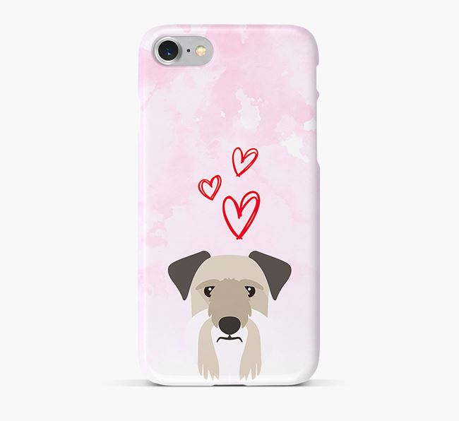 Phone Case with Cesky Terrier Icon & Hearts