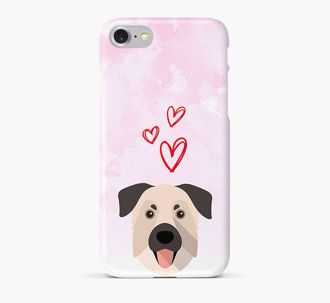 Phone Case with Chinook Icon & Hearts