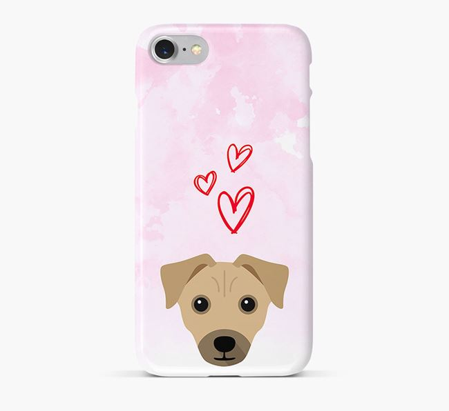 Phone Case with Chi Staffy Bull Icon & Hearts