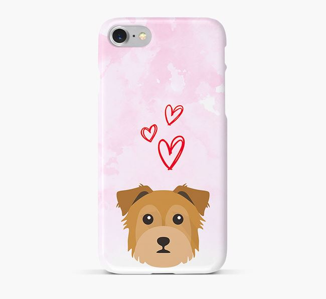 Phone Case with Chorkie Icon & Hearts