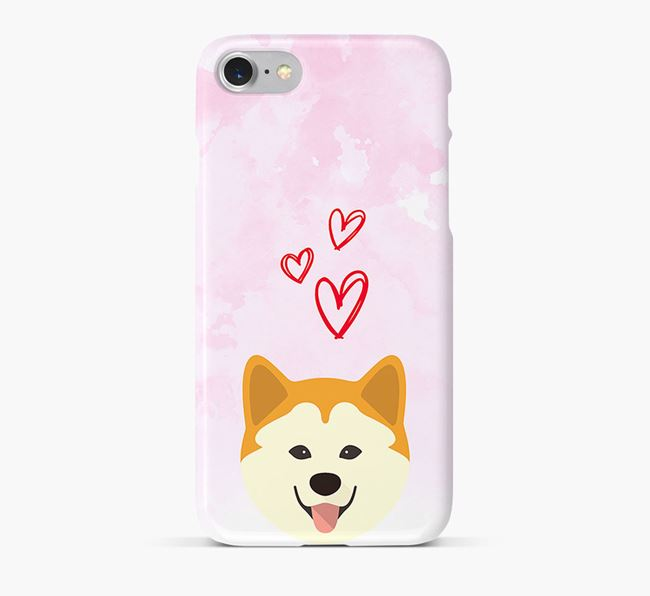 Phone Case with Chusky Icon & Hearts