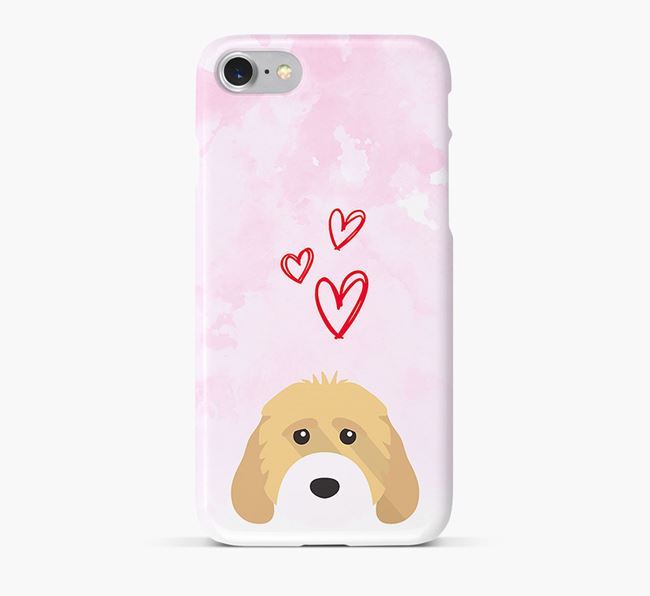 Phone Case with Cockapoo Icon & Hearts