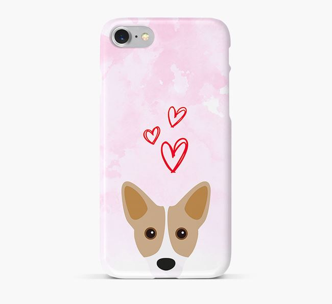 Phone Case with Cojack Icon & Hearts