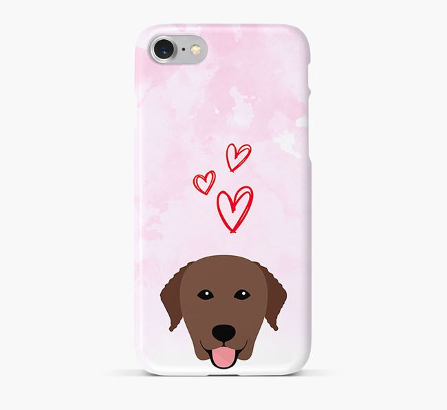 Phone Case with Curly Icon & Hearts