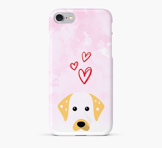Phone Case with Dalmatian Icon & Hearts