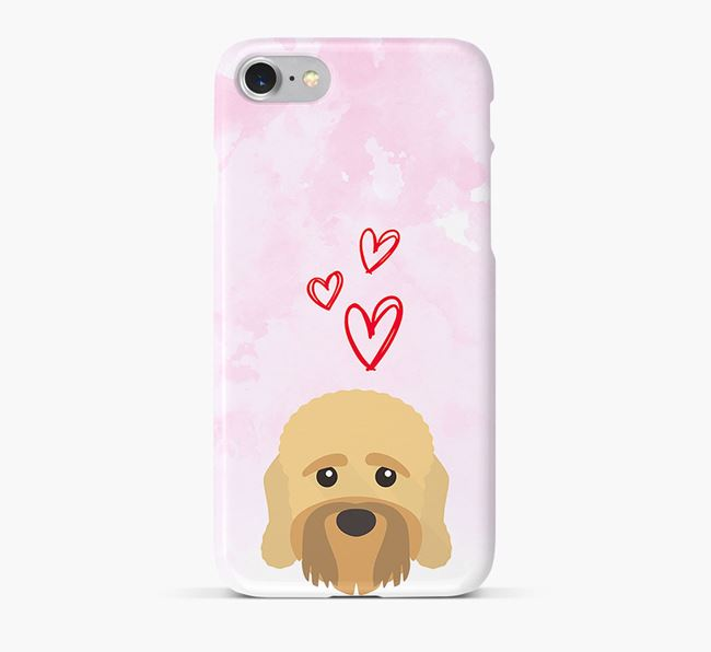 Phone Case with Dandie Dinmont Icon & Hearts