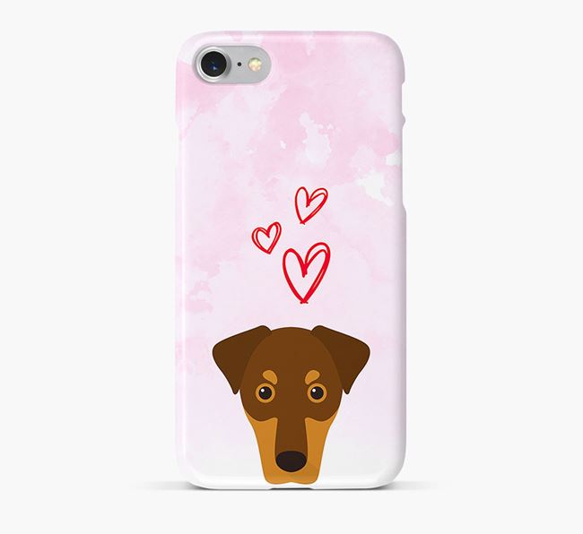 Phone Case with Dobermann Icon & Hearts
