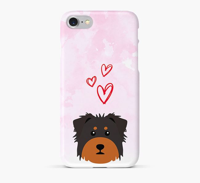 Phone Case with Dorkie Icon & Hearts