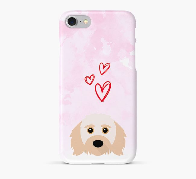 Phone Case with Doodle Icon & Hearts
