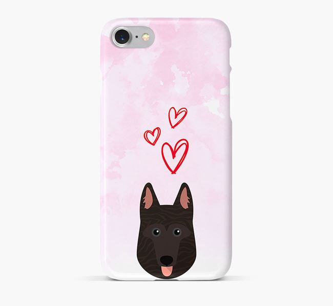 Phone Case with Dutch Shepherd Icon & Hearts