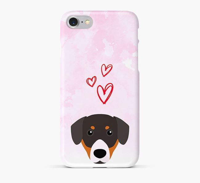 Phone Case with Entlebucher Icon & Hearts