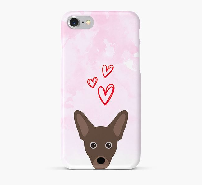 Phone Case with French Pin Icon & Hearts