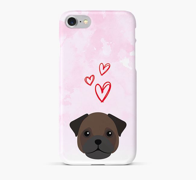 Phone Case with Frug Icon & Hearts