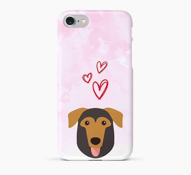 Phone Case with German Sheprador Icon & Hearts