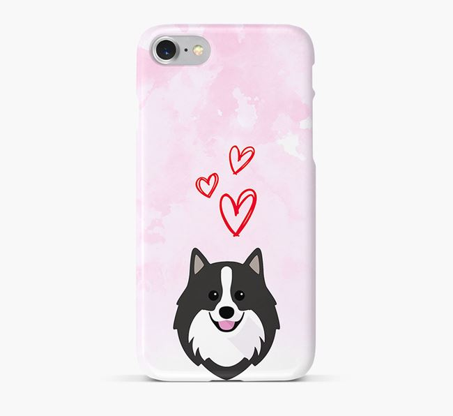 Phone Case with German Spitz Icon & Hearts