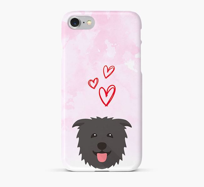 Phone Case with Glen Of Imaal Icon & Hearts