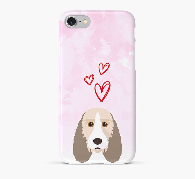 Phone Case with Basset Griffon Icon & Hearts