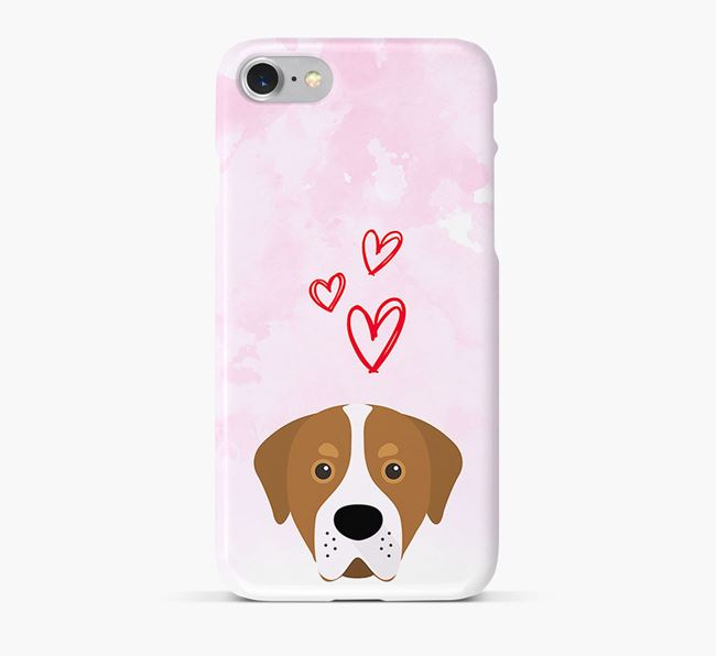 Phone Case with Swissy Icon & Hearts
