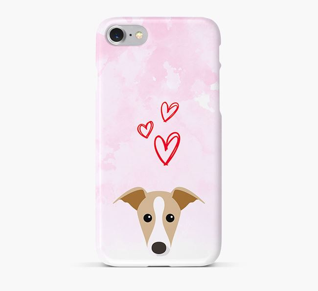 Phone Case with Dog Icon & Hearts