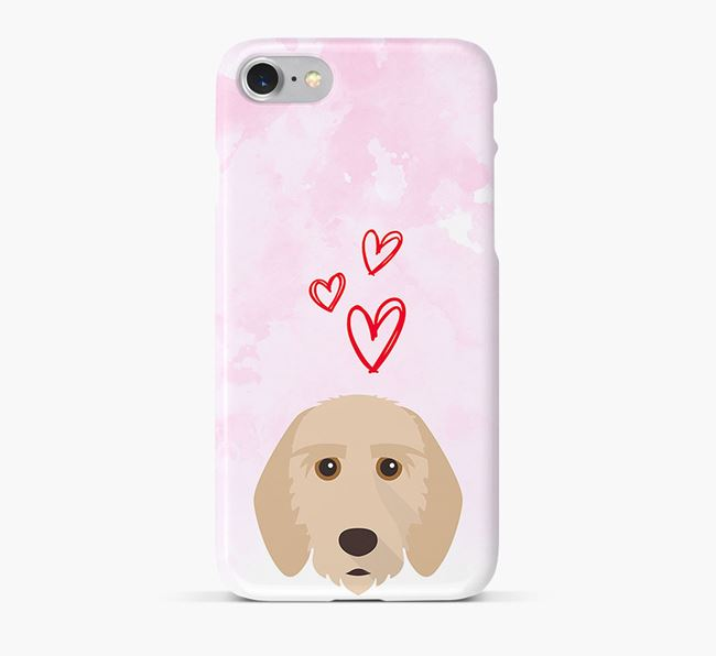 Phone Case with Griffon Fauve Icon & Hearts