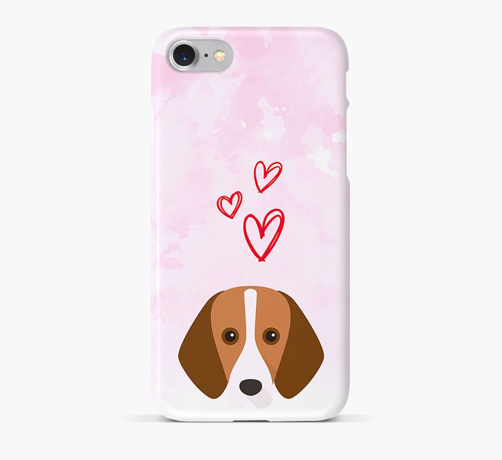 Harrier Icon & Hearts Phone Case