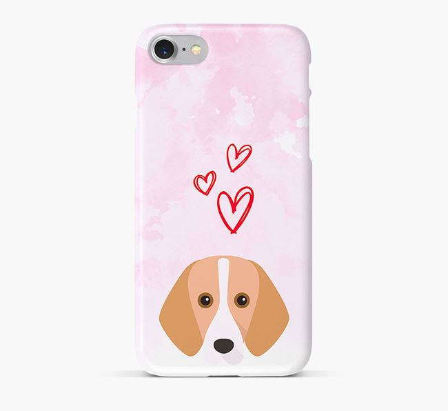 Phone Case with Harrier Icon & Hearts