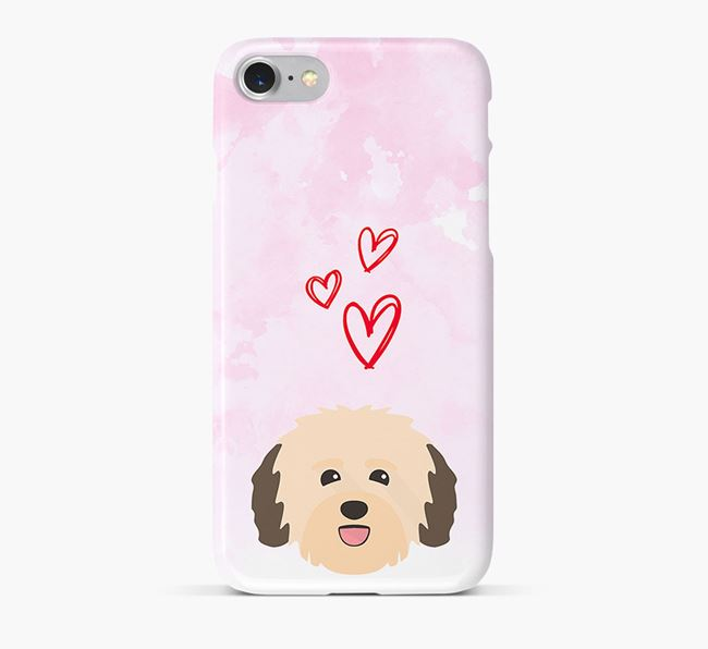 Phone Case with Havanese Icon & Hearts