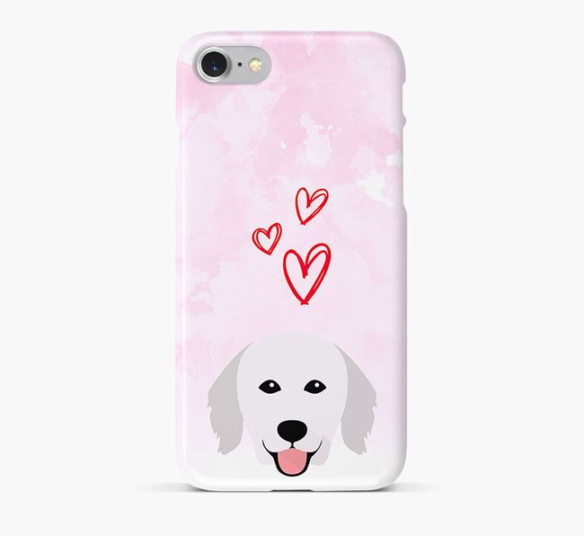 Phone Case with Kuvasz Icon & Hearts