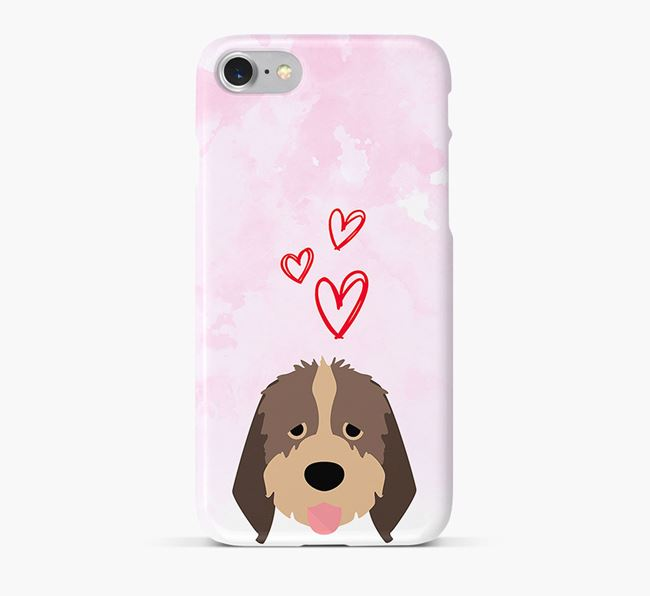 Phone Case with Italian Spinone Icon & Hearts