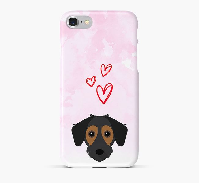 Phone Case with Jack-A-Bee Icon & Hearts