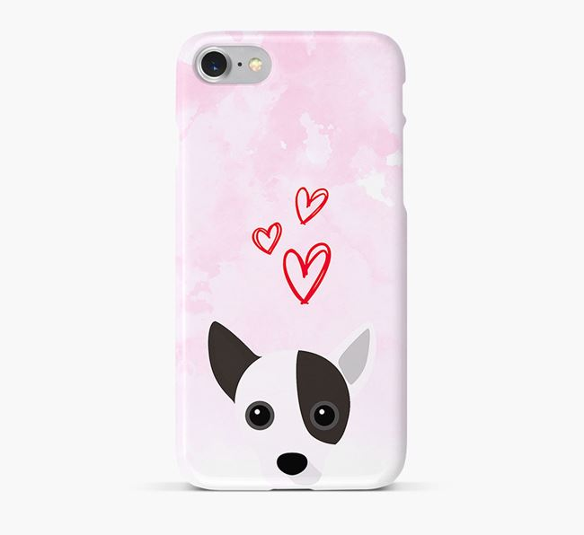 Phone Case with Jack Chi Icon & Hearts