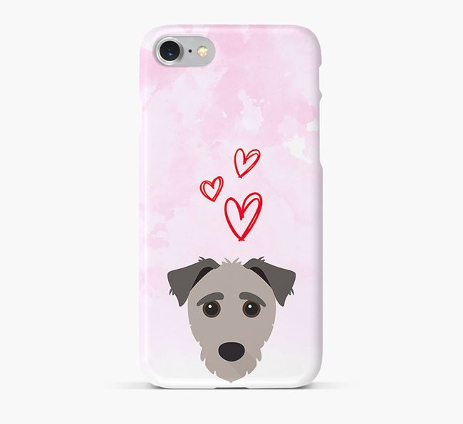 Phone Case with Jack-a-Poo Icon & Hearts