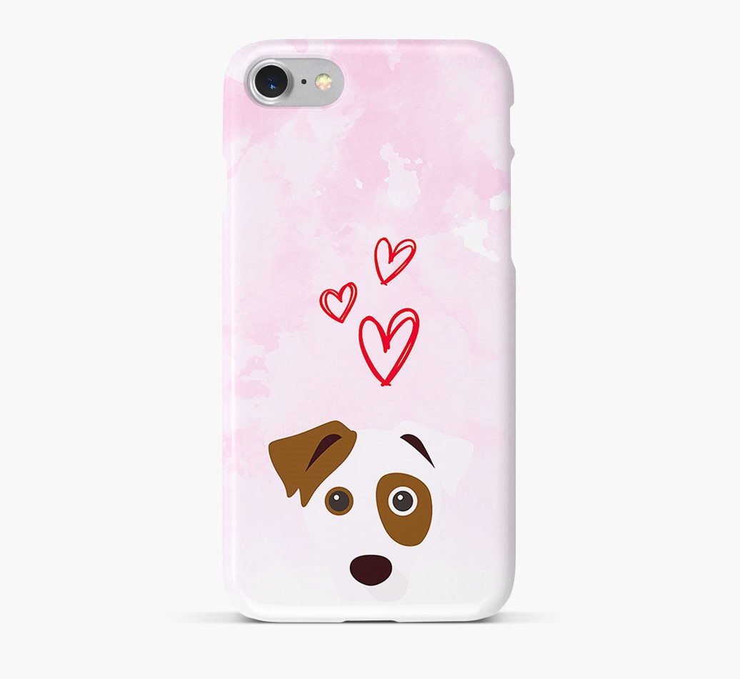 Dog Icon & Hearts Phone Case