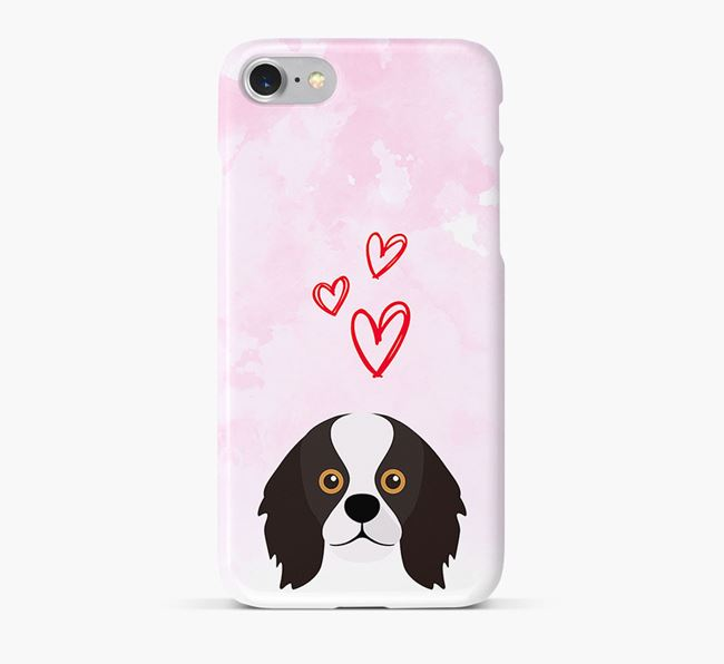 Phone Case with King Charles Icon & Hearts