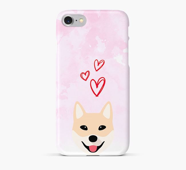 Phone Case with Jindo Icon & Hearts