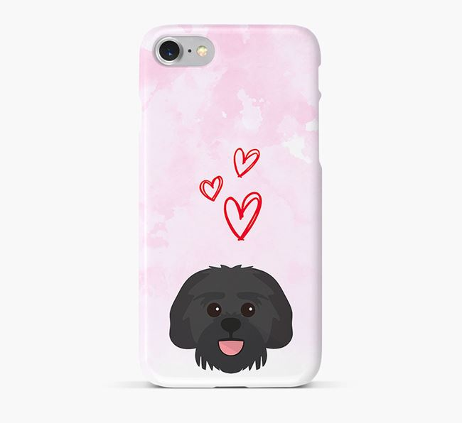 Phone Case with Lachon Icon & Hearts