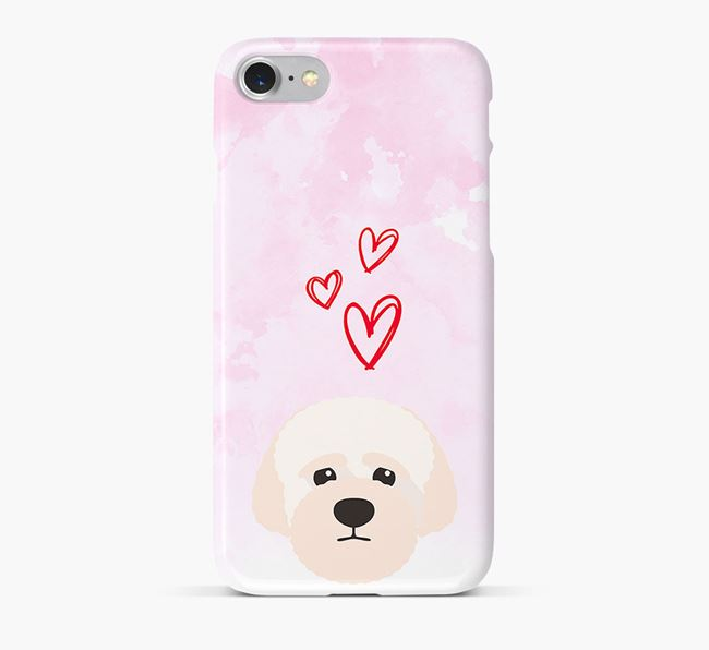 Phone Case with Lagotto Icon & Hearts
