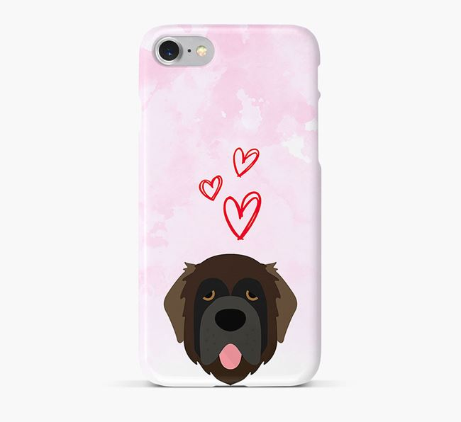 Phone Case with Leonberger Icon & Hearts