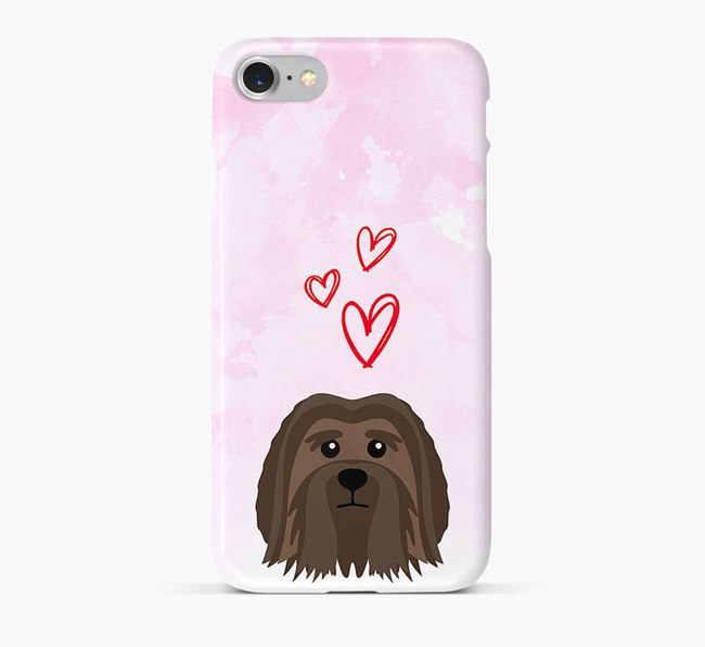 Phone Case with Löwchen Icon & Hearts