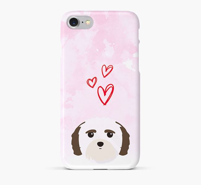 Phone Case with Mal-Shi Icon & Hearts