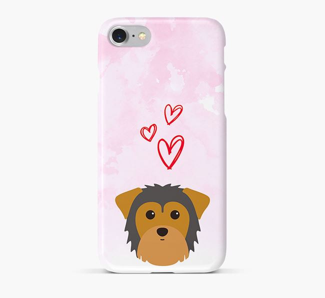 Phone Case with Morkie Icon & Hearts