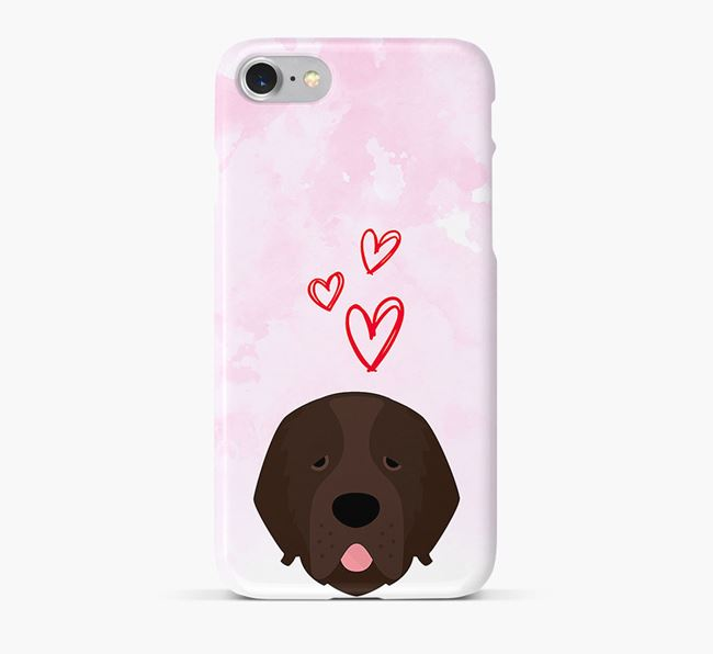 Phone Case with Newfoundland Icon & Hearts