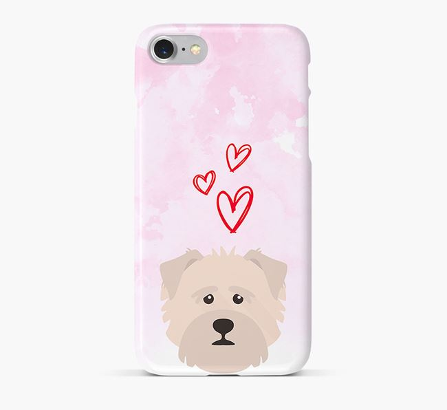 Phone Case with Norfolk Terrier Icon & Hearts
