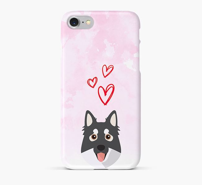 Phone Case with Northern Inuit Icon & Hearts