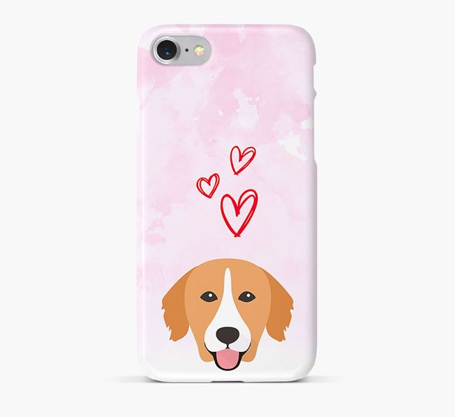 Phone Case with Toller Icon & Hearts