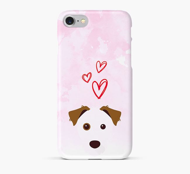 Phone Case with Parson Russell Icon & Hearts