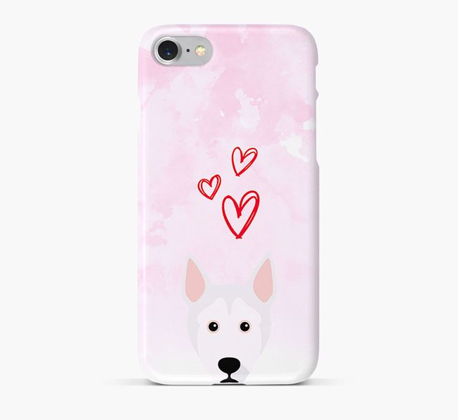Phone Case with Pitsky Icon & Hearts