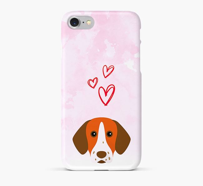 Phone Case with Pointer Icon & Hearts