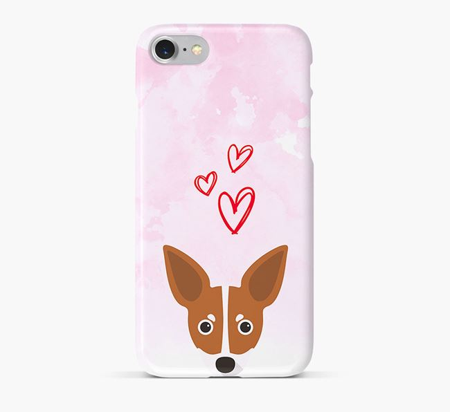 Phone Case with Russian Toy Icon & Hearts