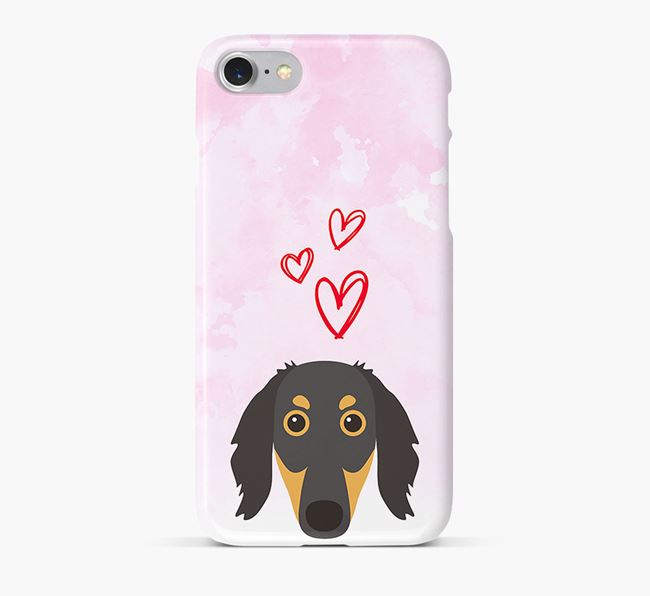 Phone Case with Saluki Icon & Hearts